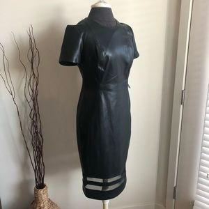 Calvin Klein Leather Dress Size 4, New With Tags.